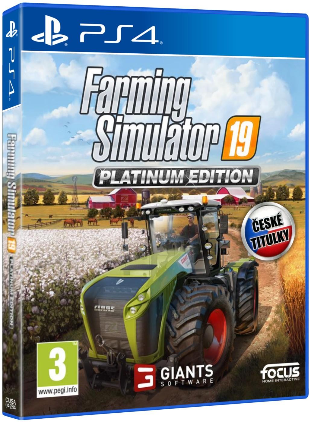 Farming simulator 19 ps4 platinum edition