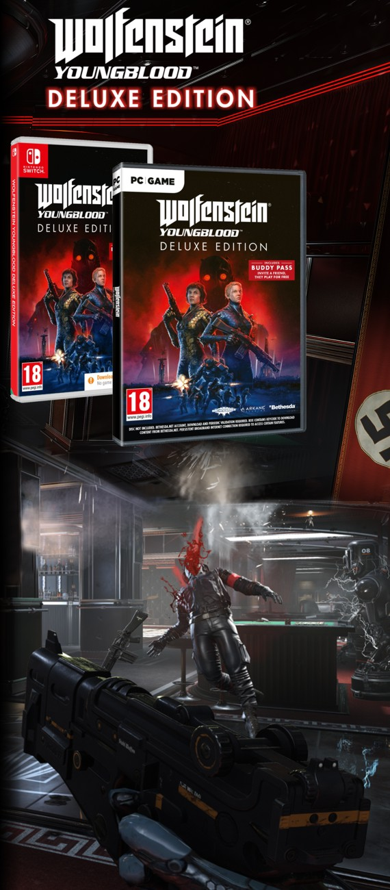 Wolfenstein Youngblood Deluxe Edition - PC, PS4, Xone a Switch